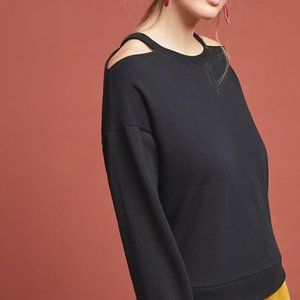 Anthropologie Maeve Open Shoulder Sweater
